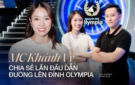 Khánh Vy nói gì sau lần đầu tiên làm MC Đường Lên Đỉnh Olympia?