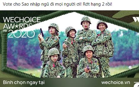 Rap Việt lấy lại vị trí dẫn đầu, fan Sao Nhập Ngũ lo lắng kêu gọi bình chọn tại WeChoice Awards 2020