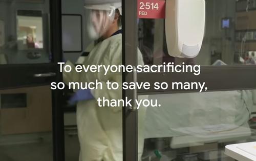 Giữa cuộc chiến chống dịch Covid-19, Google thực hiện video tri ân nhân viên y tế toàn cầu