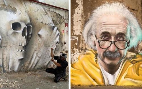 Chỉ từ những bức tường cũ nát, nghệ sĩ Graffiti tạo nên những tác phẩm nghệ thuật thần sầu khiến ai đi qua nhìn cũng phải xuýt xoa