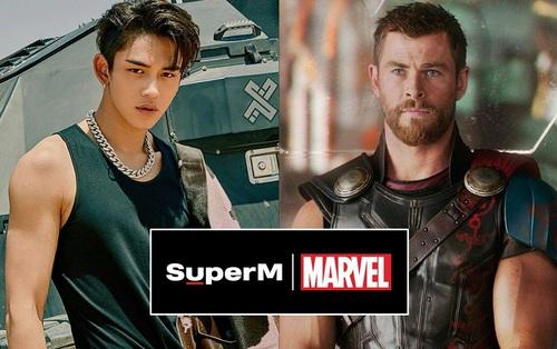 """Màn kết hợp của năm: SuperM """"bắt tay"""" Marvel thành lập đội Avengers của Kpop?"""