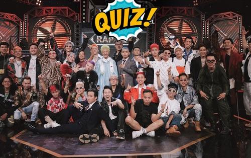 Quiz: Đa số thí sinh Rap Việt mùa 1 đoán trật loạt câu hỏi này. Bạn có muốn thử sức?