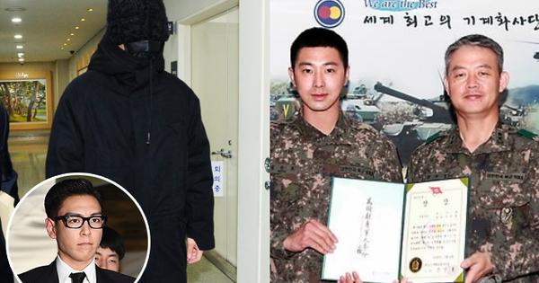 """Đi muộn trong ngày đầu tiên trở lại quân ngũ, T.O.P (Big Bang) bị """"ném đá"""" thậm tệ và so sánh với Yunho"""