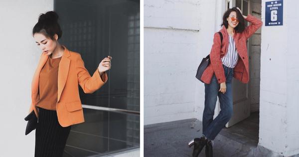 Áo blazer không hề một màu, nhàm chán bởi có ít nhất 5 biến tấu để các nàng thỏa sức làm điệu trong mùa lạnh năm nay