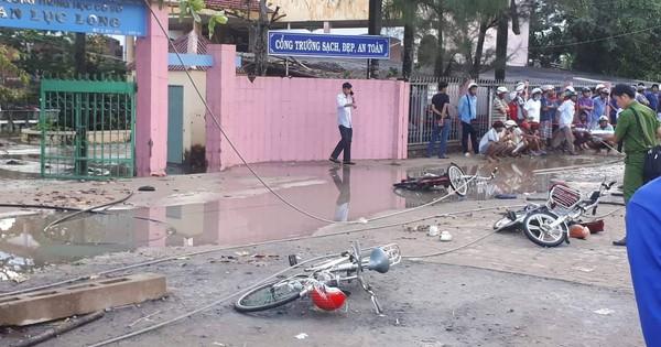 1 học sinh muốn nghỉ học sau vụ dây điện rơi ở Long An