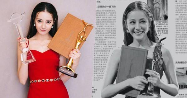 Báo lớn đồng loạt chỉ trích việc Địch Lệ Nhiệt Ba ôm 2 cúp, trở thành Thị hậu Kim Ưng 2018
