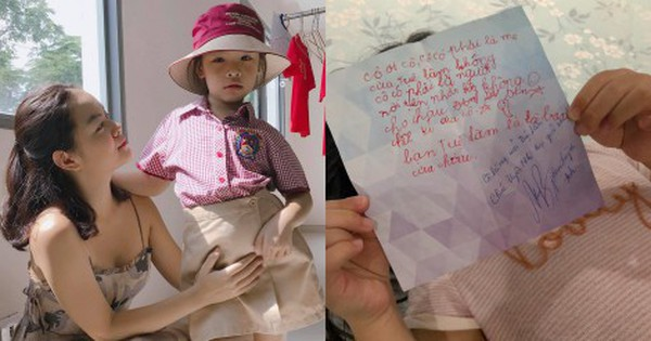 Phạm Quỳnh Anh khoe được bạn học của con gái mới lớp 2 đã gửi thư xin chữ ký cực đáng yêu