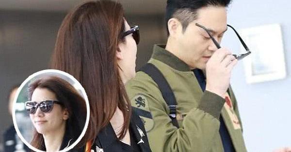 Vợ chồng Viên Vịnh Nghi - Trương Trí Lâm cãi nhau tại sân bay, mặt nặng mày nhẹ cả dọc đường