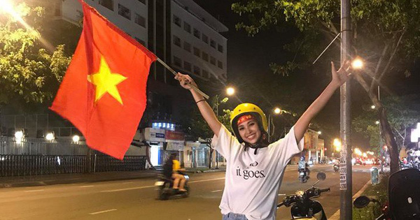 Trở về từ Miss World, Tiểu Vy giản dị xuống đường đi bão sau trận cầu nảy lửa Việt Nam gặp Malaysia