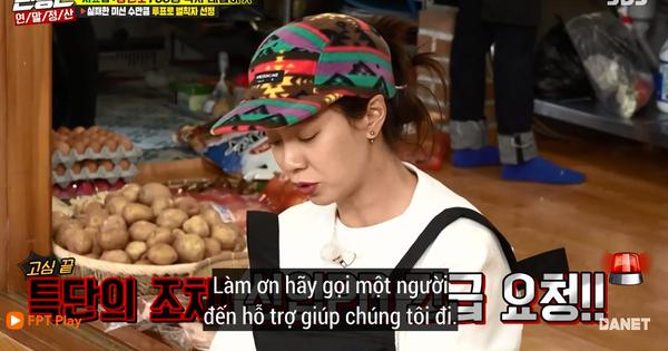 Song Ji Hyo nổi đóa vì Running Man cử 1 người không biết nấu ăn đến... phụ bếp
