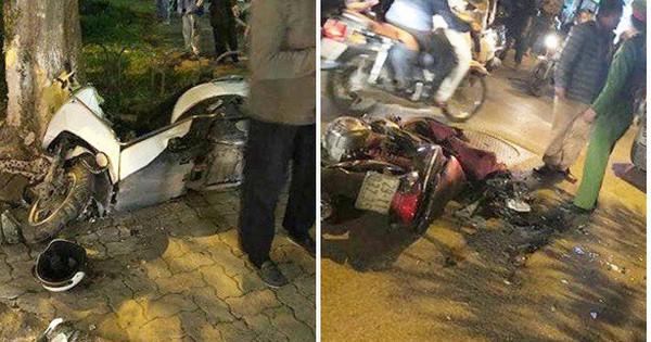 Ảnh: Hàng loạt xe máy vỡ nát, người bị thương nằm la liệt sau khi nữ tài xế lái Lexus gây tai nạn liên hoàn trên phố Hà Nội