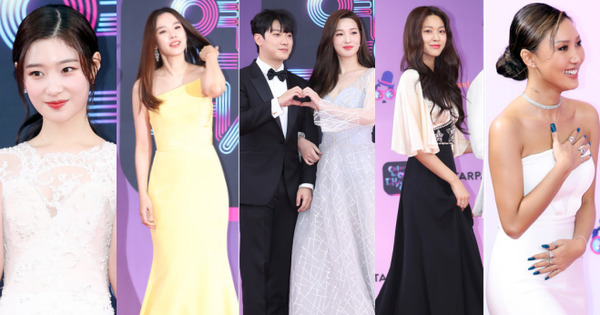 Thảm đỏ KBS Entertainment Awards: Cặp vợ chồng trẻ nhất Kpop xuất thần, vợ Lee Dong Gun lấn át dàn nữ thần