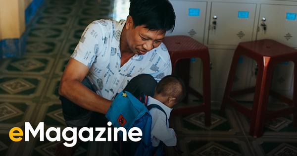 'Thầy khổng lồ' và 'bé tí hon' giữa núi rừng Quảng Ngãi: Chuyện cổ tích của tình yêu thương