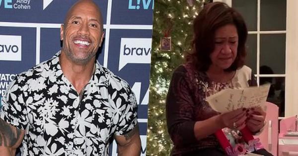 Bù đắp quá khứ nghèo khó của mẹ, Dwayne Johnson tặng món quà Giáng Sinh