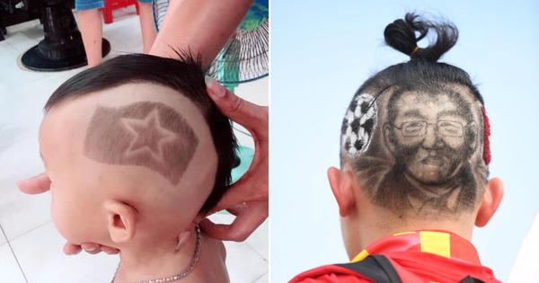 Chùm ảnh: CĐV Việt Nam và những kiểu tóc vô cùng độc đáo để cổ vũ đội tuyển