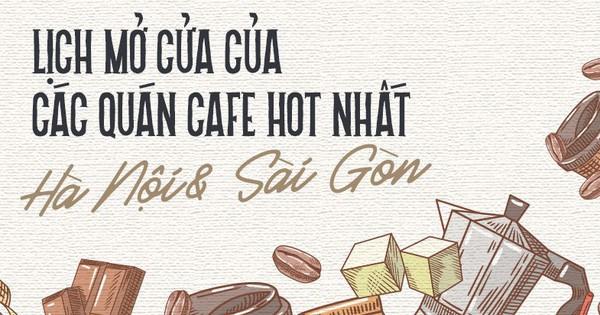 Cập nhật ngay lịch mở cửa của các quán cà phê ở Sài Gòn – Hà Nội dịp Tết!