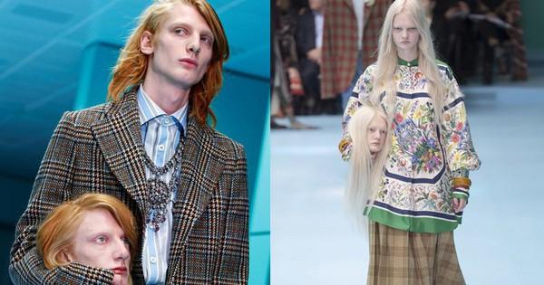 """Show mới của Gucci """"dị"""" quên lối về: Người mẫu ôm… thủ cấp để catwalk, kẻ lại vác nguyên con rồng"""