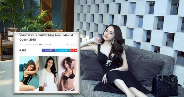 Vừa có mặt tham dự Hoa hậu Chuyển giới Quốc tế, Hương Giang đã xuất hiện nổi bật trên báo Thái