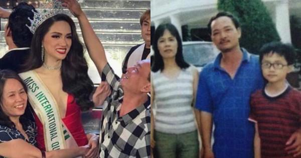 """Gửi lời cảm ơn sau đăng quang, Hương Giang còn chia sẻ hình ảnh """"ngày ấy – bây giờ"""" vô cùng thú vị với gia đình!"""