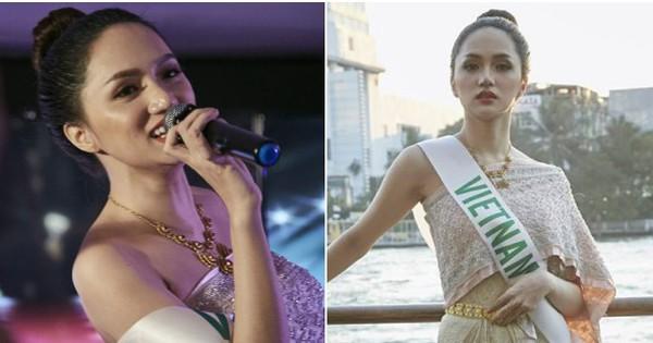 Hương Giang đằm thắm trong trang phục dân tộc Thái Lan, giao lưu văn nghệ cực sung cùng dàn thí sinh HH Chuyển giới Quốc tế