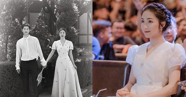 Hòa Minzy rất xinh nhưng chiếc váy cô nàng mặc lại là phiên bản ''nhái'' hơi lỗi của váy cưới Song Hye Kyo