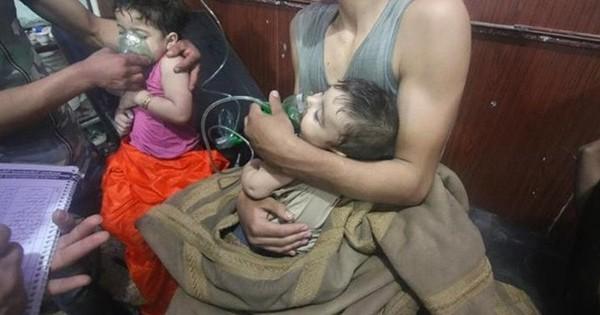 Hình ảnh kinh hoàng được cho là do tấn công hóa học ở Douma (Syria)