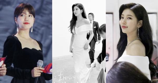 Hình hậu trường nóng hổi của Suzy tại Baeksang: Sải bước ở hầm để xe mà sang như bà hoàng, đẹp hơn cả đi thảm đỏ