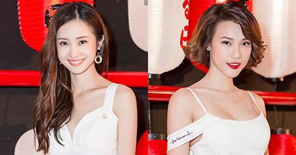 'Tuyết Anh' Jun Vũ và 'Mỹ Dung' Hoàng Oanh hội ngộ 'tone xuyệt tone' tại thảm đỏ Nhắm Mắt Thấy Mùa Hè