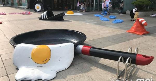 """Triển lãm ngoài trời chỉ có tại thành phố nóng nhất Hàn Quốc: Trứng rán, dép chảy nhựa đầy đường… kỷ niệm một mùa hè """"đáng ghét"""" lại đến"""