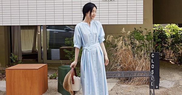 Vào những ngày mát trời, các nàng cứ diện váy dáng dài là chuẩn đẹp và dễ hút mọi ánh nhìn