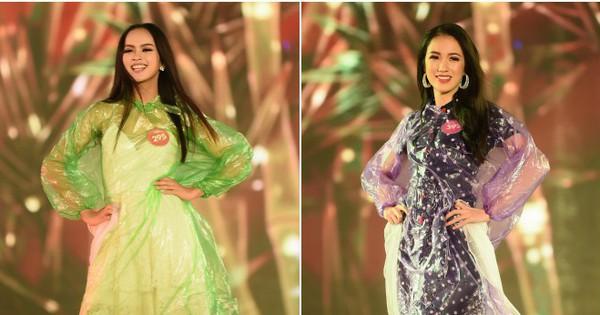 Bất chấp thời tiết bất lợi, 38 người đẹp Hoa hậu Việt Nam phía Bắc rạng rỡ mặc áo mưa để tổng duyệt