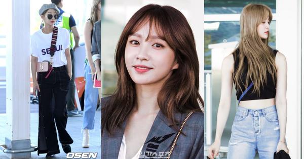 Hani đẹp xuất sắc, Junghwa khoe vòng eo siêu chuẩn cùng các thành viên EXID tại sân bay Hàn sang Việt Nam