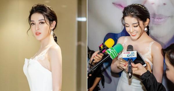 Lấn sân làm diễn viên, Huyền My đẹp lộng lẫy, được truyền thông Myanmar săn đón nhiệt tình