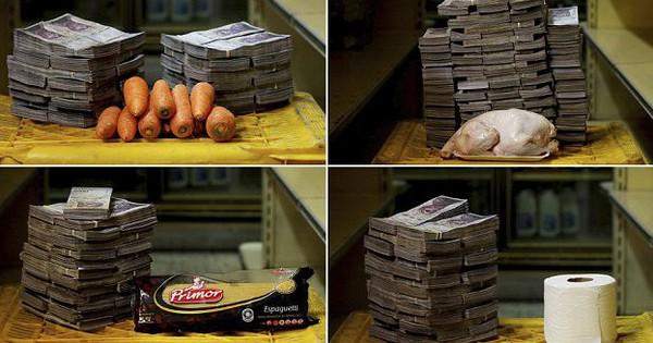 Lạm phát tại Venezuela: Những chồng tiền khổng lồ mà người dân phải chi trả cho nhu yếu phẩm hàng ngày sẽ khiến bạn thấy sốc!