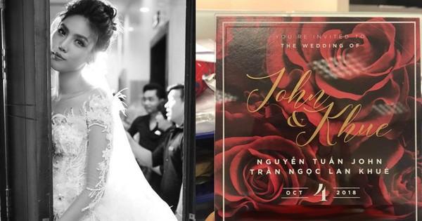 Rò rỉ thiệp cưới của Lan Khuê và bạn trai đại gia John Tuấn Nguyễn