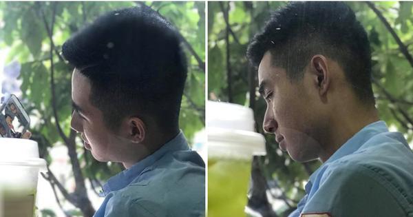 Anh bảo vệ quán trà sữa bất ngờ nổi tiếng MXH vì sở hữu góc nghiêng đẹp trai ra phết!