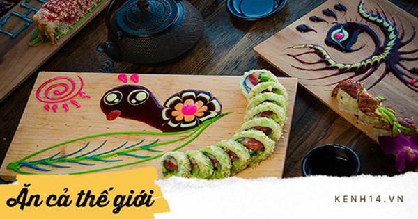 Khi sốt sushi không chỉ để chấm mà còn có thể sáng tạo thành những tác phẩm nghệ thuật