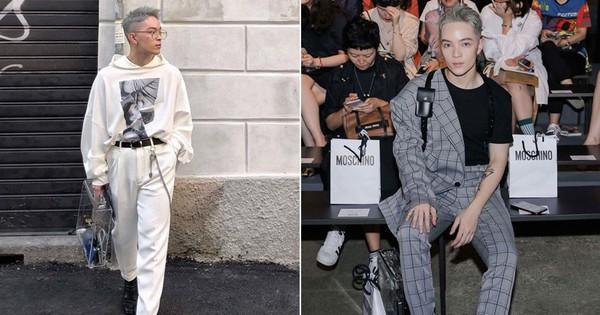 Vốn ''nhẵn mặt'' tại fashion week, lần này Kelbin Lei lại ngồi hàng ghế đầu của Moschino và Armani