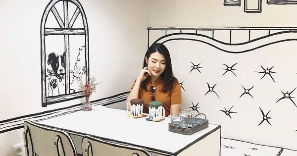 """Quán cà phê mang phong cách truyện tranh """"siêu ảo"""" đang hot tại Hàn Quốc"""