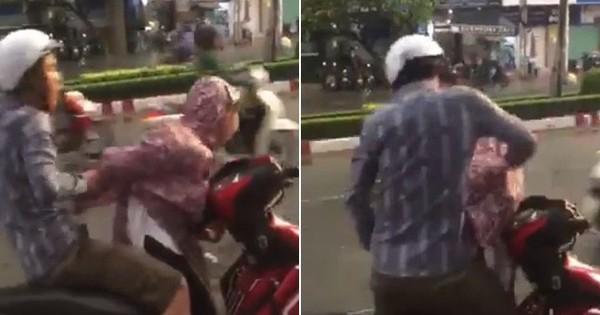 Người đàn ông đánh túi bụi vào mặt cô gái ngay giữa đường và cái kết bẽ bàng
