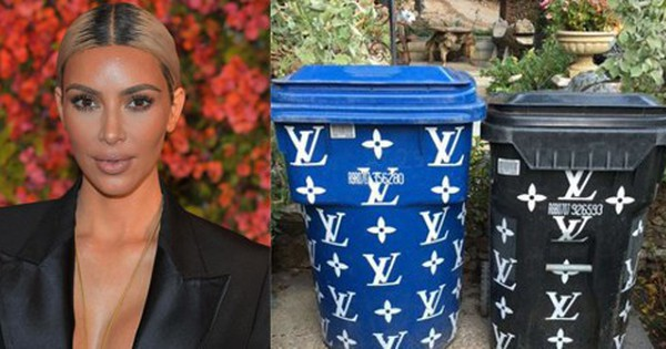 Sang thì phải như Kim Kardashian: Đến thùng rác cũng là… hàng LV giá hơn 92 triệu đồng
