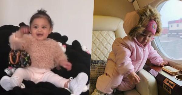 Vén màn cuộc sống rich kid siêu sang của con gái Kylie Jenner: Chưa đầy 1 tuổi đã diện đồ hiệu, ngồi phi cơ riêng