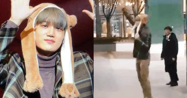 Lần đầu lộ diện sau tin hẹn hò Jennie, Kai khiến fan thích thú vì hành động cực dễ thương tại tiệc sinh nhật