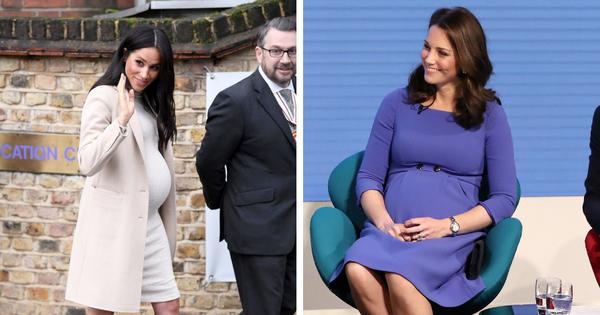 """So kè style bầu bí của Công nương Kate và Meghan: Chị kín đáo khiêm nhường, em bụng to lại """"chẳng ngán"""" diện đồ bó"""