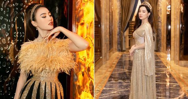 Ngập sắc vàng kim cả một thảm đỏ: Lan Ngọc đài các đúng kiểu ''Crazy Rich Asian'', Nhã Phương long lanh tựa nữ thần