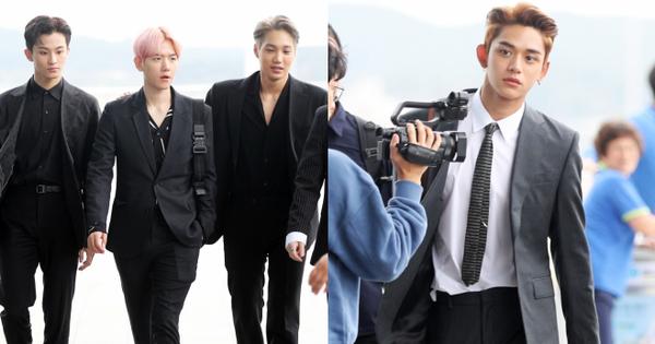 Choáng vì biệt đội ''Avengers'' toàn nam thân nhà SM biến sân bay thành phim: Cực phẩm, idol lai lấn át EXO, SHINee