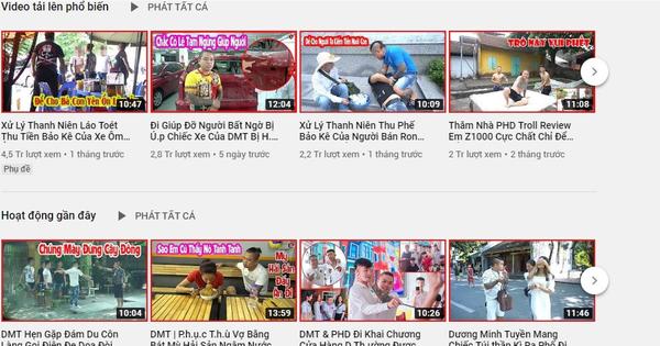 Vẫn cố làm video bạo lực, Dương Minh Tuyền lập tức bị cho ''bốc hơi'' YouTube