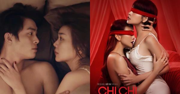 """""""Chị Chị Em Em"""" tung trailer ngập cảnh nóng gây sốc: Chi Pu - Thanh Hằng ân ái từ """"A tới Á"""" không tha chỗ nào?"""