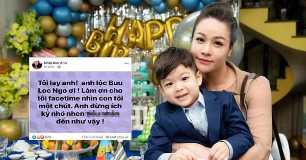 Bị chồng ngăn cản gặp con trai, Nhật Kim Anh bức xúc: ''Anh đừng ích kỷ nữa, tôi chịu hết nổi rồi!''