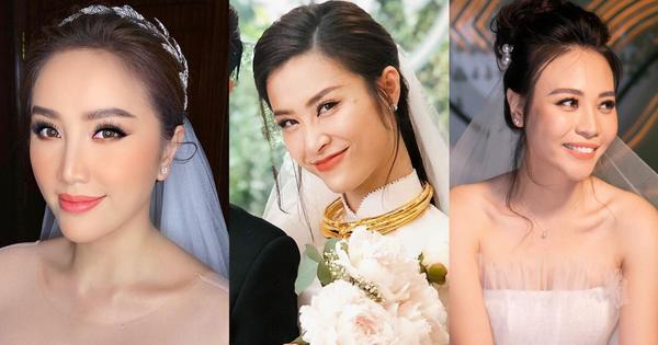 Đến đám cưới Bảo Thy là có thể khẳng định: Hầu hết các cô dâu showbiz Việt đều ''đu'' theo xu hướng trang điểm tông cam